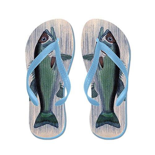 Blue Fish Thong Sandal (CafePress - Vintage Fish - Flip Flops, Funny Thong Sandals, Beach Sandals)