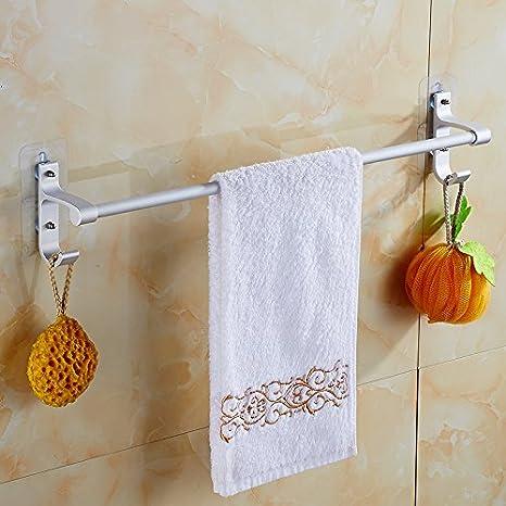 Queens Toallero del punzón Ventosa de palanca única baños colgar toallas toallas de baño Sub-