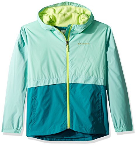 Columbia Girls' Little Rain-Zilla Jacket, Pixie, Emerald