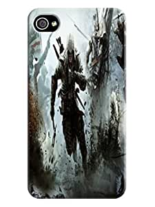 Classic design tpu phone cover with texture for iphone 4/4s of Assassin's Creed in Fashion E-Mall