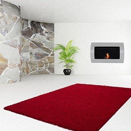 Trendy grand tapis shaggy 200x280 cm rouge: Amazon.fr: Cuisine ...