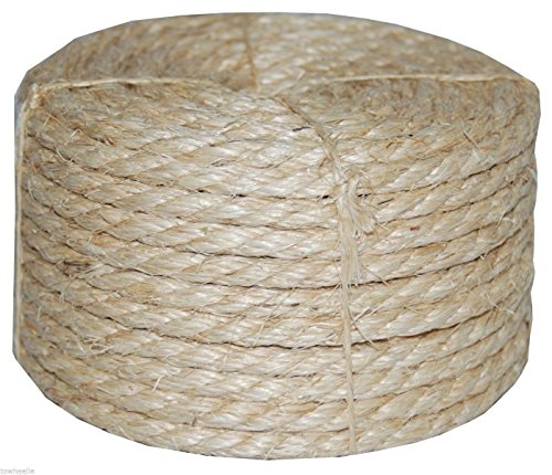 3/8 X 100' Natural Sisal Rope CAT SCRATCHING POST Claw Co...