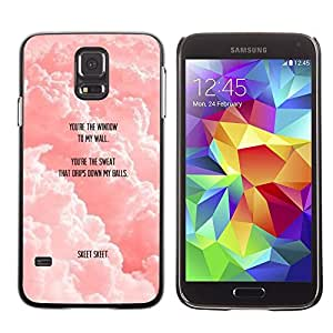 LECELL--Funda protectora / Cubierta / Piel For Samsung Galaxy S5 SM-G900 -- Clouds Quote Cute Love Funny --