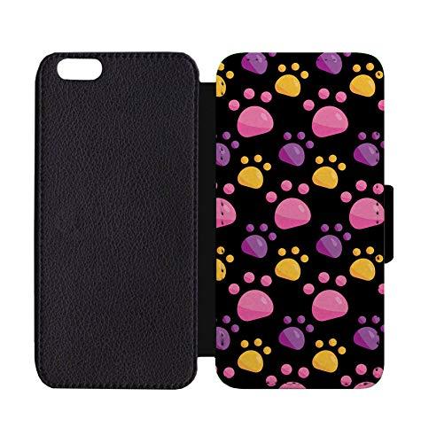 Wallet Paw Prints (Wallet Phone Case Kitten Paw Print for iPhone 7 Plus/7S Plus)