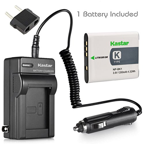 Kastar Battery (1-Pack) and Charger Kit for Sony NP-BK1, BC-CSK work with Sony Bloggie MHS-CM5, MHS-PM5, Cyber-shot DSC-S750, DSC-S780, DSC-S950, DSC-S980, DSC-W180, DSC-W190, DSC-W370, Webbie MHS-PM1
