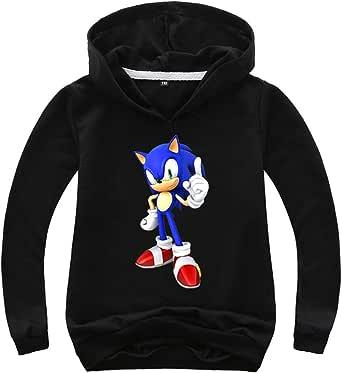 NautySaurs - Sudadera de manga larga con capucha Sonic The Hedgehog para niños
