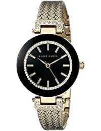 Womens Swarovski Crystal-Accented Watch with Gold-Tone Mesh Bracelet
