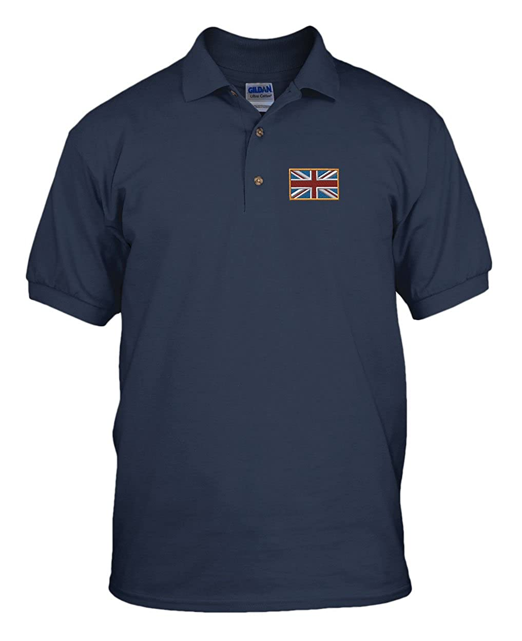 British Flag Country Embroidery Cotton Short Sleeve Polo Jersey Shirt POLOCOFLAG074