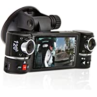 2.7 TFT LCD Dual Camera Rotated Lens Car DVR Vehicle Video Recorder Dash Cam