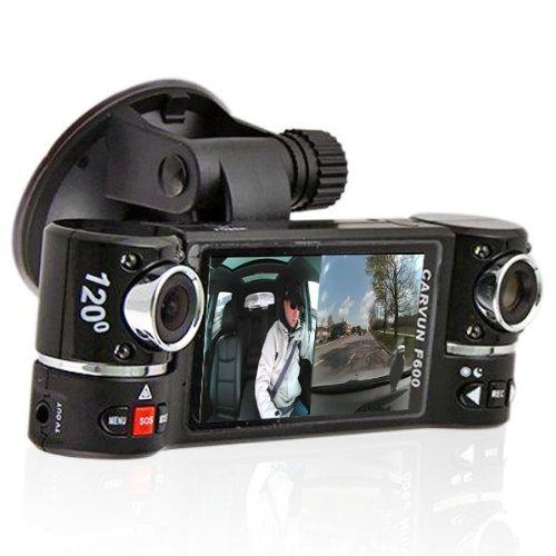 inDigi Dash Cam 2.7'' TFT LCD Dual Camera Rotated Lens Car DVR w/ IR Night Vision - NEW