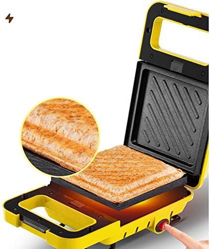 Home Wafel Ontbijtmachine, Multifunctionele sandwichmaker 600W snelle verwarming Met 2 soorten bakplaten Dubbelzijdige bakplaat met antiaanbaklaag,M1
