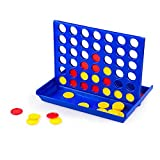 Carejoy Vertical Connect 4 Games Family Party Bar Chess Game, Play and Storage for Kids Adults and Family Fun