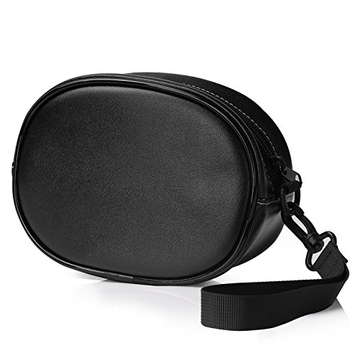 MoKo Beats Solo 2 / Solo 3 Wireless Headphones Case, Portable Travel Premium Vegan Leather Bag Pouch Cover with Holding Strap, for Beats Solo2 , Solo3, Studio, Solo HD Headset (Black)
