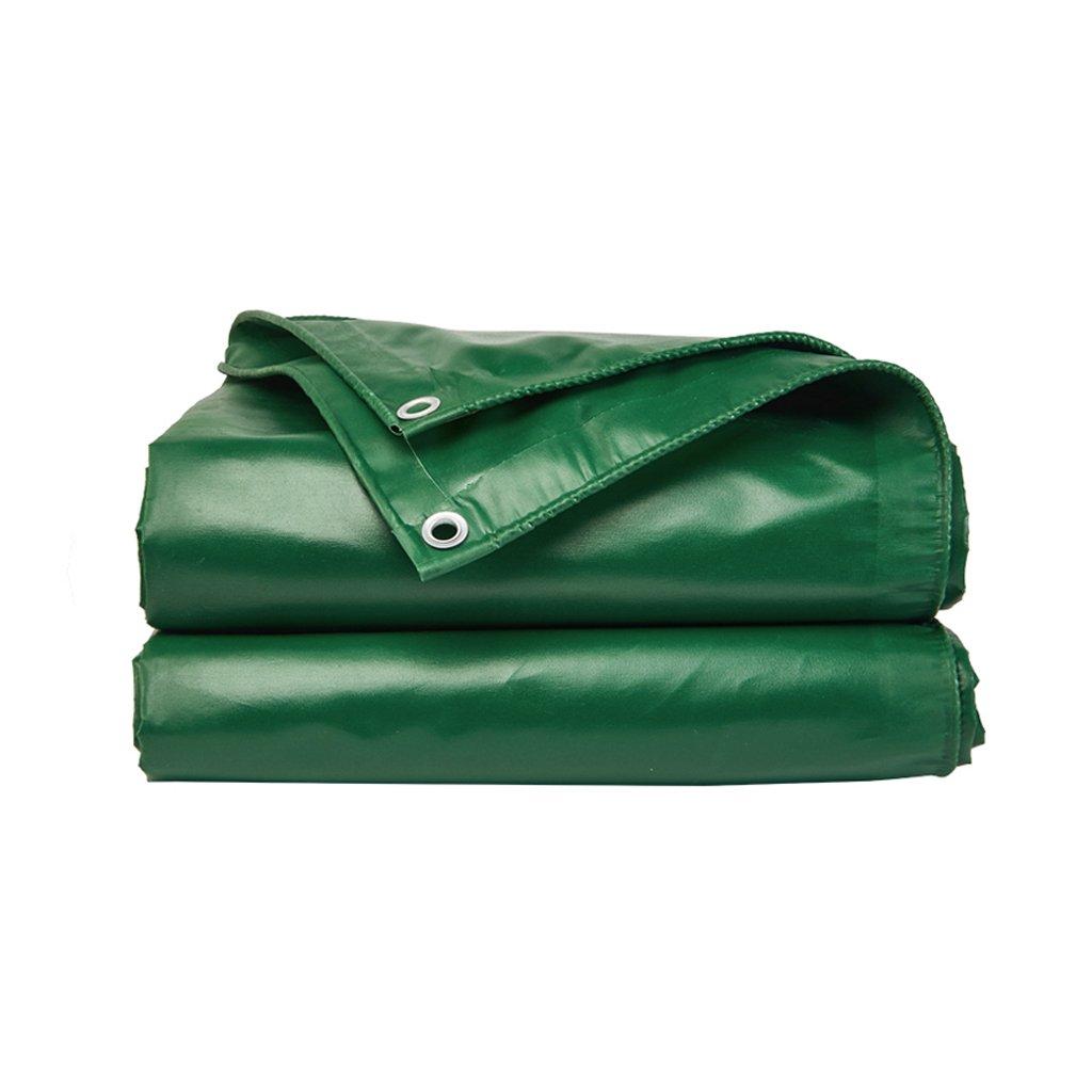 防雨布サンシェード布アウトドアキャンバス厚手Tarpaulin Army Green B07FKJZGLZ   4*3m