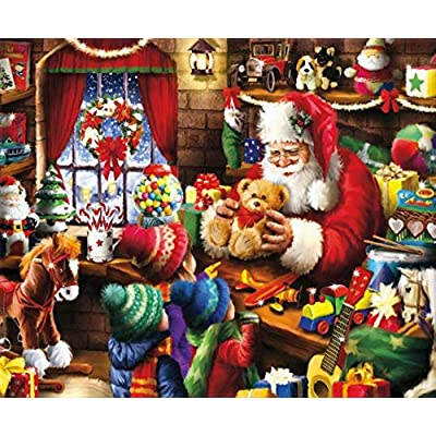Classic Christmas Santa'S Workshop Puzzle - 1000Piece: Toys & Games