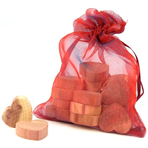 20 Stück Zedernholz Herzform Mottenschutz Hangerworld