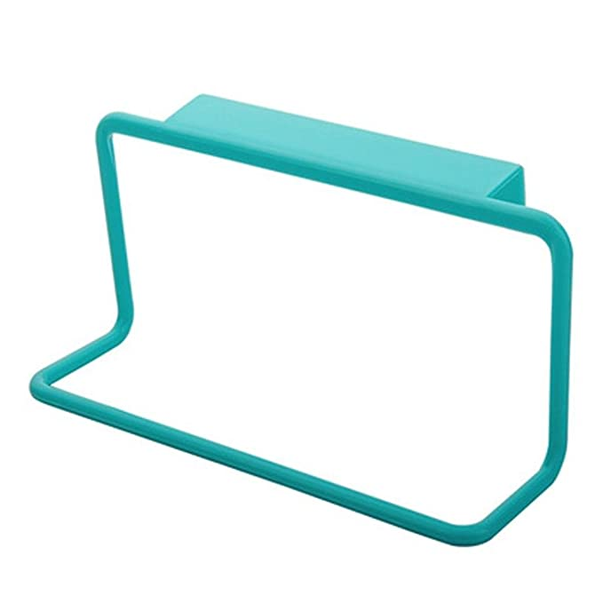 GroB Handtuchhalter Hängende Halter Organizer Badezimmer Küchenschrank Schrank  Hanger Plastic Trace Tuch Hängen Towel Rack Hanging Holder HKFV (Blau):  Amazon.de: ...