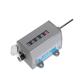 JENOR 75-I contador de revoluciones rotativo de 5 dígitos mecánico reajustable 350 R/