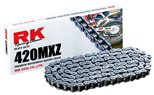 RK Racing Chain 420MXZ-78 Steel 78-Link Heavy Duty Chain with Connecting Link