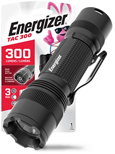 ENERGIZER LED Tactical Flashlight, IPX4 Water Resistant, Super Bright, Heavy Duty Metal Body, Built For Camping…
