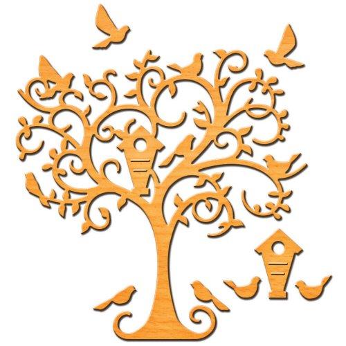 Die Cut Easter Egg Table - Spellbinders Shapeabilities D-Lites Die Cut, Delightful Tree - S2-107