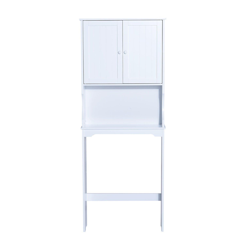 Homcom Over Toilet Cabinet Bathroom Freestanding Tall Cupboards Modern Design