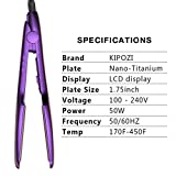KIPOZI Professional Hair Straightener - 1.75 Inch