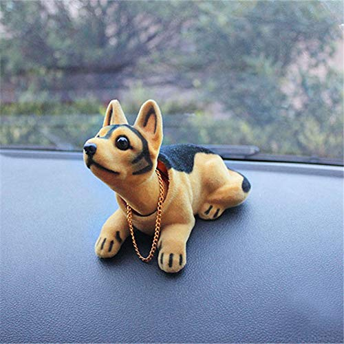 ZGSDYST Car Ornament Nodding Dog Shakes His Head Shaking Dog Car Styling Cute Bobblehead Dog Doll for Car Interior Decoration