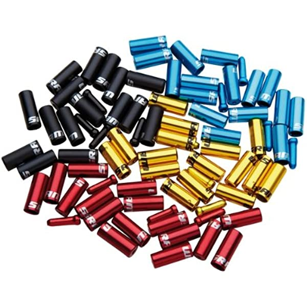 10 x Black Alloy 4mm End Ferrules for cycle gear outer cable ***NEW***
