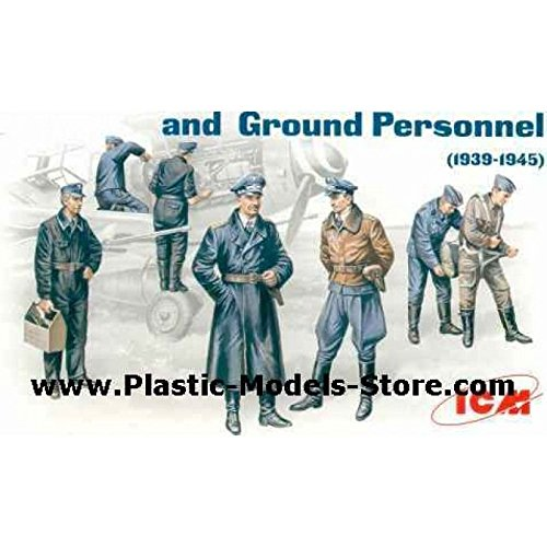 GERMAN LUFTWAFFE PILOTS AND GROUND PERSONNEL WWII 1/48 ICM 48082 /item# G4W8B-48Q54893 ()