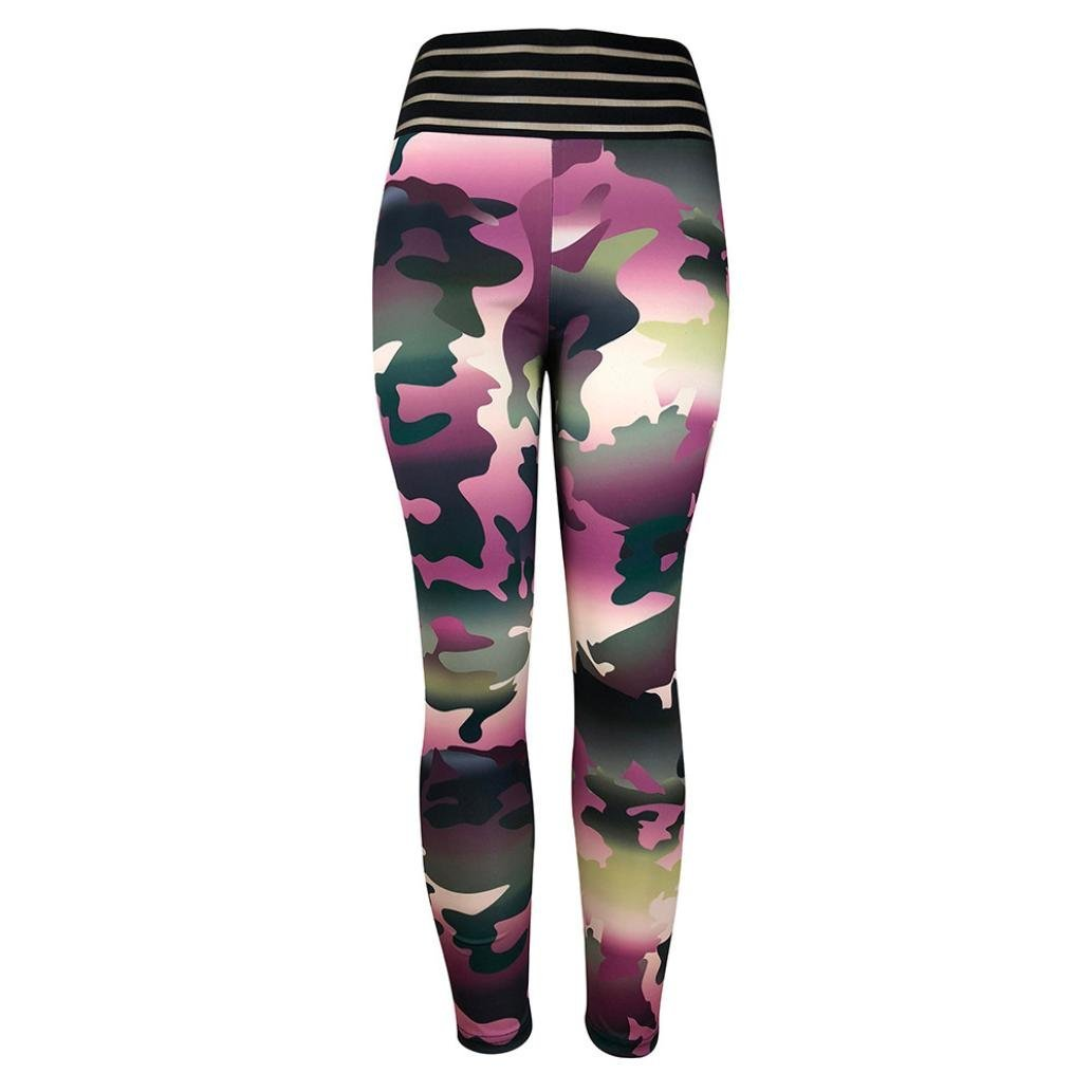 67760a034ec01 Amazon.com: DEESEE(TM)💕 Women's Workout Leggings Fitness Sports Gym  Running Yoga Athletic Pants: Clothing