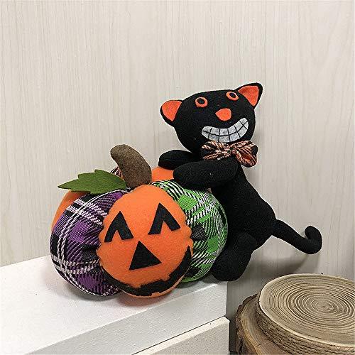 (ATOLY It Halloween Decorations Doll Doll Black Cat Ornaments, 90S Halloween Decorations, Halloween Decorations Kids, Black Orange Green,Trick Treat)