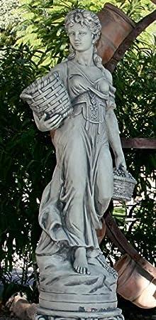 DEGARDEN AnaParra Figura Decorativa Decorativa La Murciana para jardín o Exterior 140cm. hormigón-Piedra: Amazon.es: Jardín