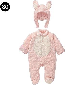 Unisex bebé animal grueso mamelucos mono invierno cálido a prueba ...