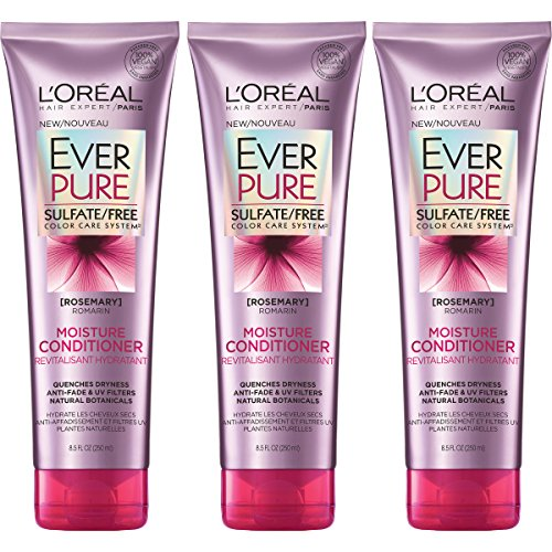 L'Oreal Paris Hair Care Ever Pure Sulfate Free Moisture Conditioner 3 Count (Hair Care Pure Moisture Shampoo)
