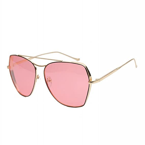 YC Sonnenbrille Metallrahmen Thick Edge Cover Fashion Lady Ocean Polarisierte Sonnenbrille Selfie Sonnenbrille,F