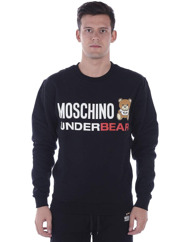 Moschino Uomo Felpa Nera con Stampa 1A1706 8104 0555