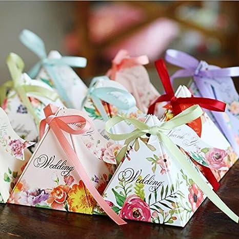 Amazon.com: livdat 50 pcs Laser Cut favor Candy Box con ...