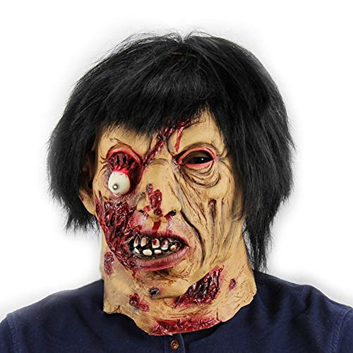 Scary Mask - Halloween Party Scary Masks Latex Festival Zombie Full Head Face Props Ghost Mask Cosplay Costume - Bundle Skull Half Full Masks Dollars Mouth Predator Boys Monster Kids Adults -