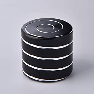 Kinetic Spinning Desk Toy Metal Spinning Top Adult Anxiety Relief Fidget Toys That Creates a Mind-Bending Optical Illusion of Continuously Flowing Helix (Black)