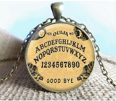 (Ouija Board Pendant/Necklace Jewelry, Fine Art Necklace Jewelry)