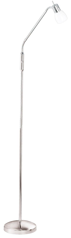 Trio Leuchten LED-Stehleuchte chrom, EEK A, Glas opal weiß glänzend, inklusive 1 x 4.5W LED, Höhe max. 170 cm 421210106