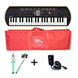 Casio SA 76 Mini keyboard with Adapter & Blueberry Bag along with Selfie Stick