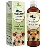 Vanilla Oatmeal Dog Shampoo with Aloe Vera - Colloidal Oatmeal Shampoo for Dogs & Puppies - Anti Itch Pet Shampoo for Dogs with Sensitive Skin - Natural Odor Eliminator - Anti Flea and Tick for Dogs
