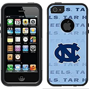 Coveroo North Carolina Repeating Design Phone Case for iPhone 5/5s - Retail Packaging - Black