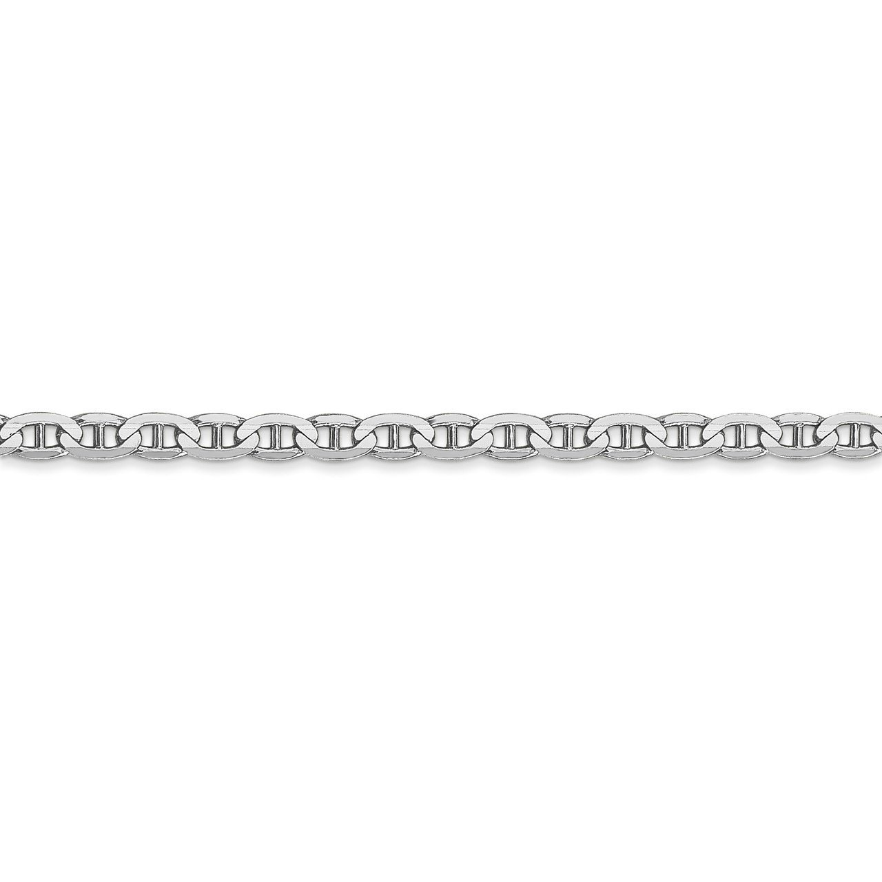 Lex /& Lu 14k White Gold 3mm Anchor Link Chain Necklace or Bracelet