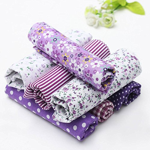 abric Bundles Quilting Sewing DIY Craft 19.7x19.7inch Purple ()