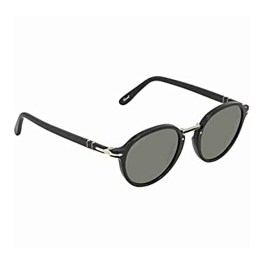 cc2dc4a18 Image Unavailable. Image not available for. Color: Persol PO3184S 95/31  Black PO3184S Round Sunglasses Lens Category 3 ...