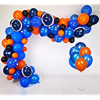 Space Balloon Garland Kit, 80pcs balloons metallic silver magic balloons star banner strip for space party decorations alien decorations space birthday party supplies galaxy party supplies baby shower