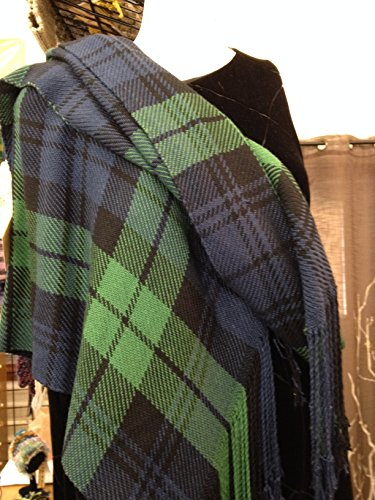 Black Watch Silk Shawl or Wrap by A Wee Bit Warped